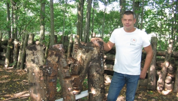 Latvijā lielākais šitaki sēņu audzētājs Jānis Volksons
