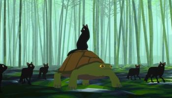 """Režisors un mākslinieks Gints Zilbalodis par savu pilnmetrāžas animācijas filmu """"Projām"""""""