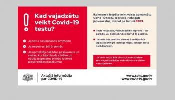 Līdz vasaras beigām ikviens varēs veikt valsts apmaksātu Covid-19 testu