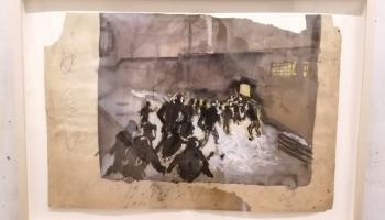 Apjomīga mākslinieka Borisa Lurjes ekspozīcija iepazīstama Žaņa Lipkes memoriālā