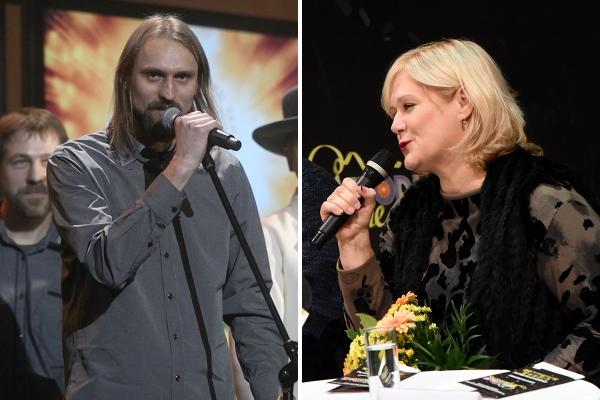 Dziesmas vērtē eksperti Kaspars Bārbals un Kristīne Zadovska