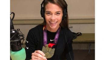 Eiropas čempione vieglatlētikā līdz 23 gadiem Sindija Bukša un velobraucējs Toms Skujiņš