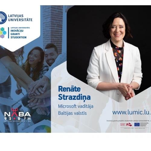 Saruna ar Microsoft vadītāju Baltijas valstīs un inženierzinātņu doktori Renāti Strazdiņu