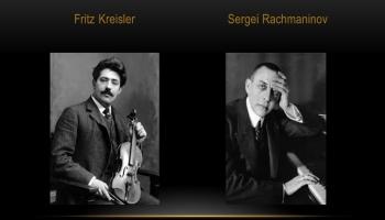 VĒSTURISKS IERAKSTS! Fricis Kreislers un Sergejs Rahmaņinovs spēlē Šūberta Sonāti