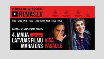 Filmu maratons 4.maijā – pirmais kinofestivāls Latvijā, kas pārceļas uz tiešsaisti