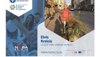 LUMIC studentu veiksmes stāsti: Elvis Kreics (kurss par klimata pārmaiņām)