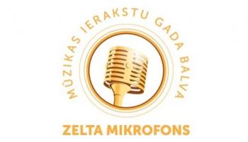 """Mūzikas ierakstu balvas """"Zelta mikrofons"""" apbalvošanas ceremonija"""