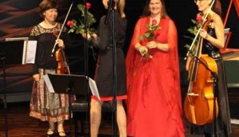Lenka Torgersena, Ilze Grudule un Ieva Saliete Rēzeknes baroka dienu koncertā