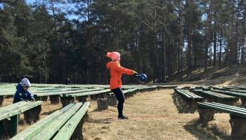 Гиревой спорт на улицах Даугавпилса в любую погоду