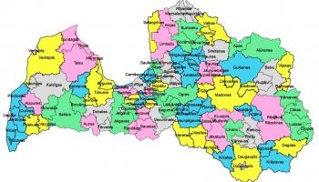 Kāda turpmāk izskatīsies Latvijas administratīvi teritoriālā iedalījuma karte?