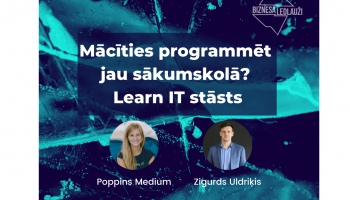 Mācīties programmēt jau sākumskolā: Learn IT un Elīna Ingelande