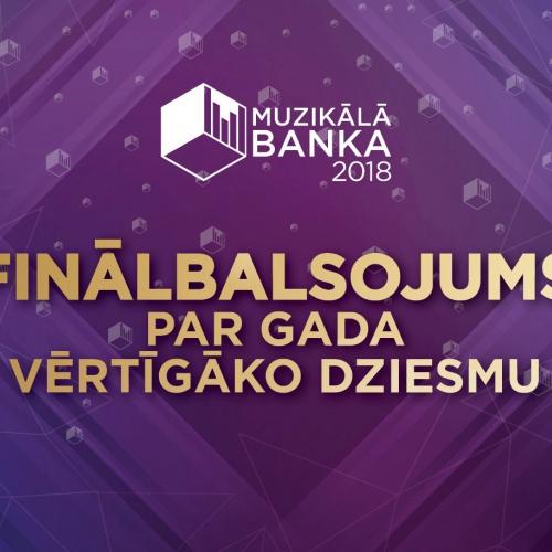 Sākas fināla balsojums par Muzikālās Bankas gada vērtīgāko dziesmu!