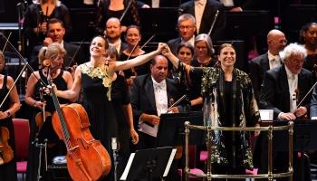 """Sola Gabeta, BBC simfoniskais orķestris un diriģente Dalija Stasevska """"BBC Proms"""" Londonā"""