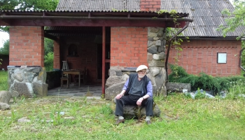 Артур Никитин. Портрет Мэтра на фоне омульского пейзажа
