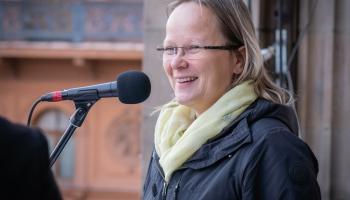 Dzejas lasījumi no Latvijas Radio balkona. Ingmāra Balode