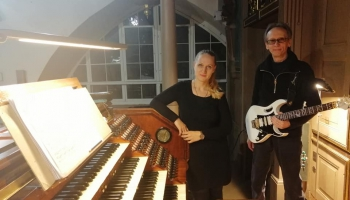 """Ilona Birģele un Armands Alksnis koncertā """"Ģitāra un ērģeles. Canto di forza"""""""