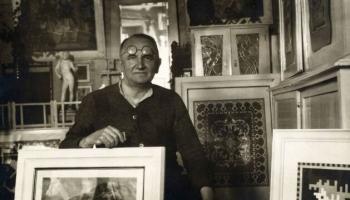 Vai zini, ka ornamentu meistars Jūlijs Madernieks aizrautīgi nodevies arī skaņu mākslai?