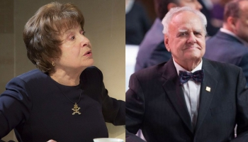 Spēlmaņu nakts: Balvas par mūža ieguldījumu ieguvēji Māra Zemdega un Gunārs Placēns