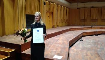 Krista Audere saņem Ērika Eriksona kordiriģentu konkursa galveno balvu!