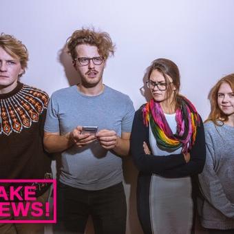 """Teātra trupā """"Kvadrifrons"""" top izrāde """"Fake News!"""""""