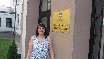 1.septembrī ciemojamies pie bioloģijas skolotājas Ingūnas Kostenko Daugavpilī
