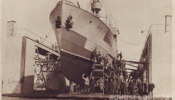 """Pirmais Latvijas Kara flotes kuģis - """"Virsaitis"""""""