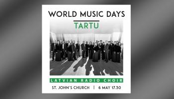 Latvijas Radio koris un diriģents Kaspars Ādamsons ISCM Pasaules mūzikas dienās Tartu