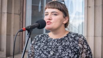 Dzejas lasījumi no Latvijas Radio balkona. Ērika Bērziņa