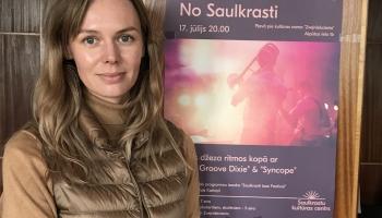 Saruna ar Saulkrastu Kultūras centra vadītājas vietnieci Beāti Barčevsku-Mukāni