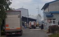 Pagaidām nav zināms ugunsgrēka iemesls Olainē Bīstamo atkritumu glabāšanas punktā