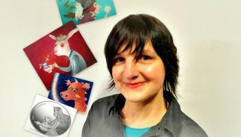 Zelta Pogas sabiedrībā māksliniece, daudzu grāmatu ilustratore Gundega Muzikante