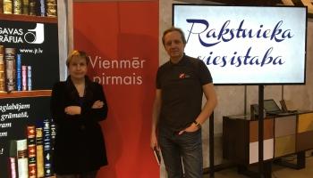 Tiekamies ar rakstniekiem un izdevējiem Latvijas Grāmatu izstādē Ķīpsalā