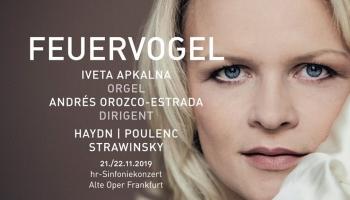 Eiroradio tiešraidē no Frankfurtes - Iveta Apkalna, Frankfurtes Radio simfoniskais orķestris un diriģents Andress Orosko-Estrada