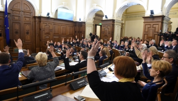 "Saeimys dorbs, ""deputatu kvotys"", gaidomuos pošvaļdeibu vieleišonys"