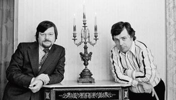 Jāņa Petera un Raimonda Paula radošais vakars LU Lielajā aulā, 1989