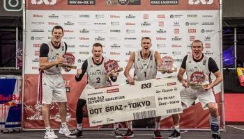 Latvijas 3x3 basketbola izlase izcīnījusi ceļazīmi uz Tokijas olimpiskajām spēlēm