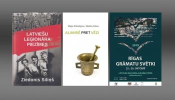 """""""Aliansē pret vēzi"""", """"Latviešu leģionāra piezīmes"""" un Rīgas grāmatu svētki"""