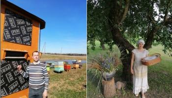 Sazināmies ar biškopi Imantu Daukstu un skolotāju Viju Jermacāni