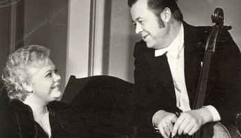Johannesa Brāmsa Pirmo sonāti čellam un klavierēm atskaņo Inta un Māris Villeruši (1983)