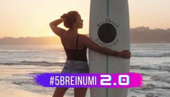 #5BREINUMI 2.0 & Gunita Broka par Santjago ceļu, fotogrāfēšanu un sērfošanu