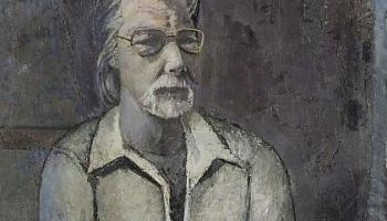 Mākslinieks Fridrihs Milts - visa Elles ķēķa grupa kā planētas pulcējas ap viņu