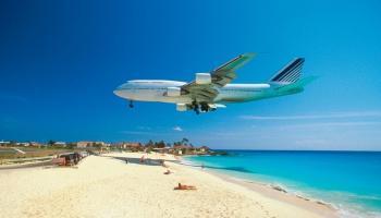 Tropiskā sala ar populāro lidmašīnu pludmali - Senmartēna!