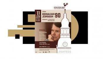 Romualda Jermaka 90. jubilejas koncerts Rīgas Domā