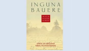 """Rakstniece Inguna Bauere romānā """"Mazā klusā sirds"""" pēta Dārtas Baronas dzīvi"""
