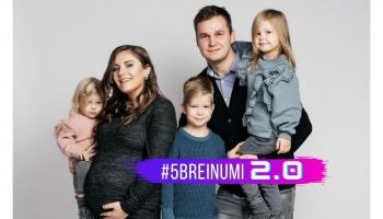 #5BREINUMI 2.0 & Laila Ludborža-Gleizde un viņas ģimenes gredzenveida kompozīcija