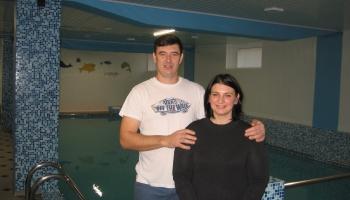 Talsu novada Laidzē pie Denisa Blošenko un Anastasijas Jakovļevas