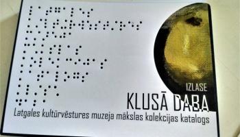 Latgales kultūrvēstures muzejā domā par apmeklētājiem ar redzes traucējumiem