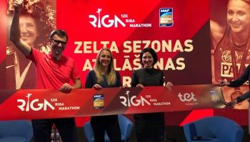 Rīgā viesojās vieglatlēte Pola Redklifa, atklājot Rīgas maratona sezonu
