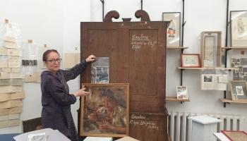 Džemmas Skulmes Mākslas telpas tapšana. Džemmas dienās viesojamies Mežaparkā
