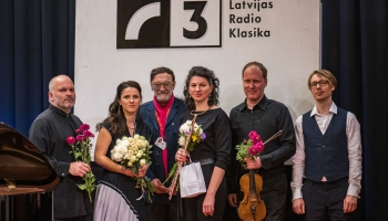 """Koncerts """"Tīrs Ābols"""" Latvijas Radio I studijā. Komponistam Jurim Ābolam - 70"""